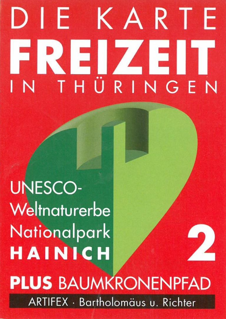 Freizeitkarte Nr. 2 - UNESCO-Weltnaturerbe Nationalpark Hainich